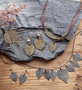 Plated Brazilian Savannah Leaf Jewelry