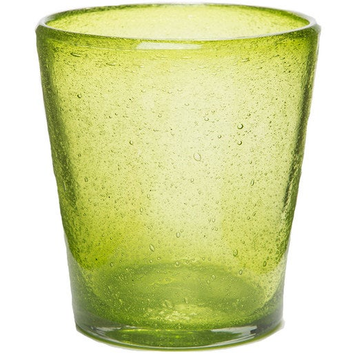 Bright Bubbled Recycled Glass Water Glass Set of 4