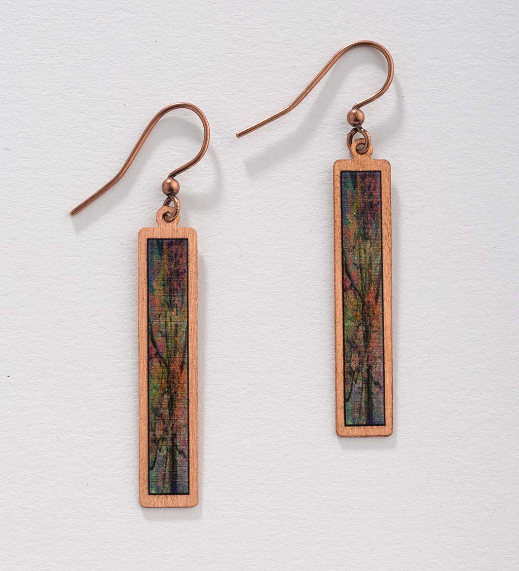 Artisan-Created Copper Dangle Earrings swatch image