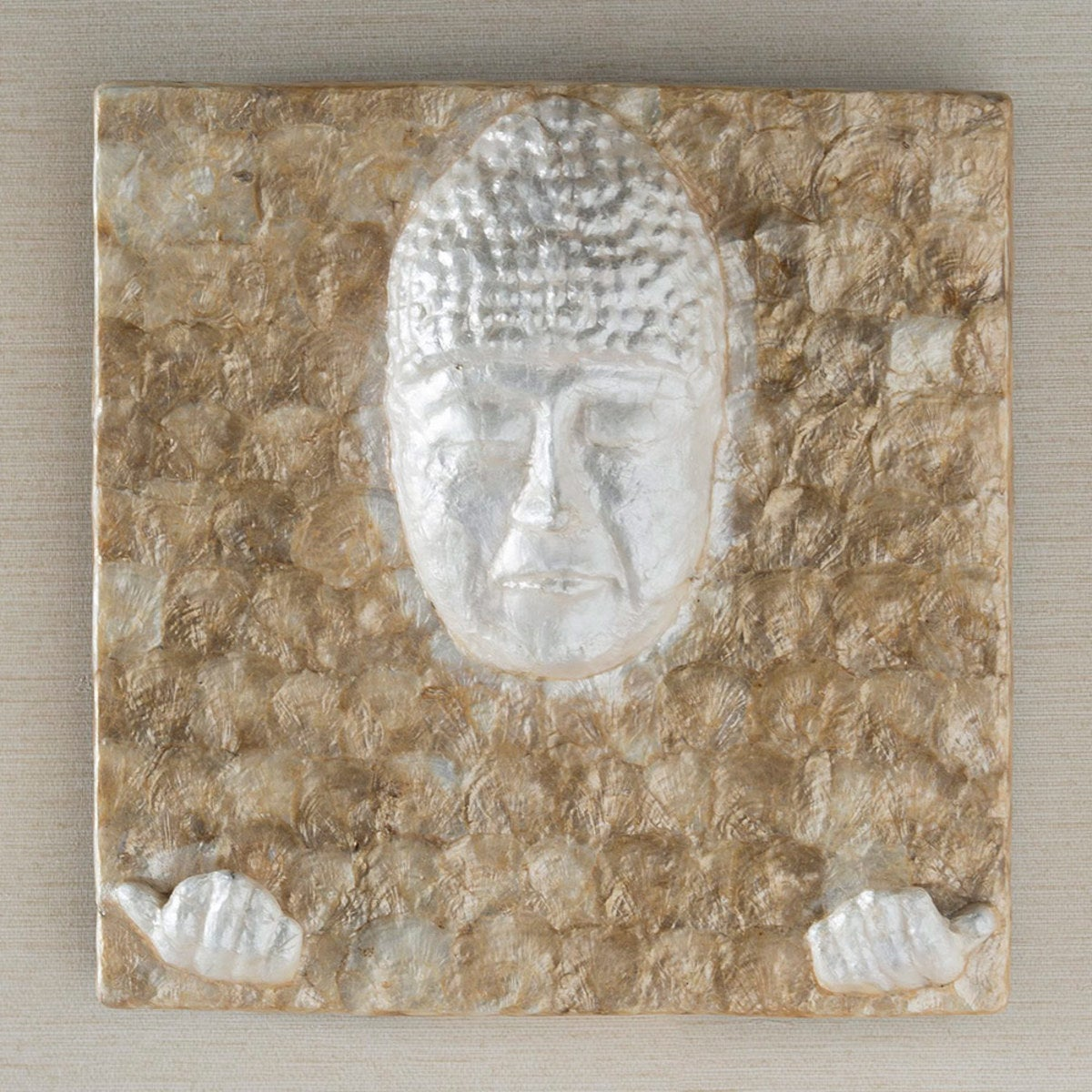 Iridescent Capiz Buddha Wall Art