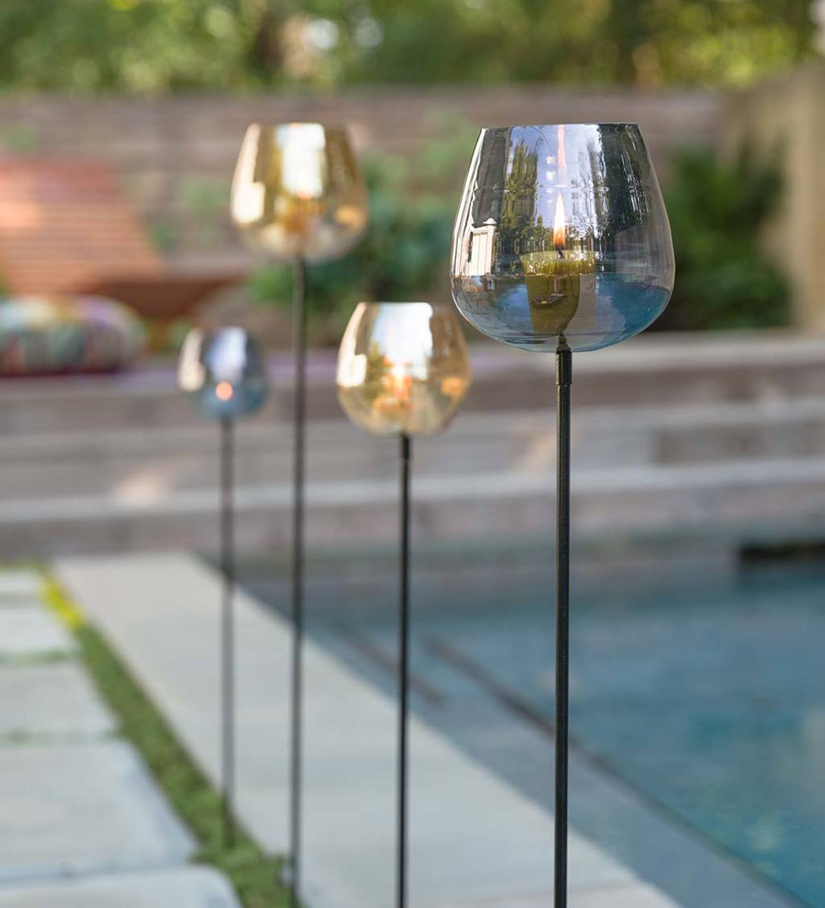 Luster Glass Garden Votive Stakes