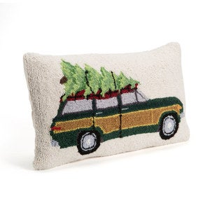 Holiday Hooked Wool Lumbar Pillows