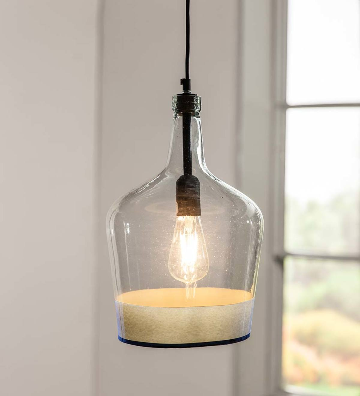 Demijohn Pendant Light - White