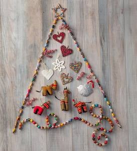 Fair Trade Wire and Paper Bead Star Ornament