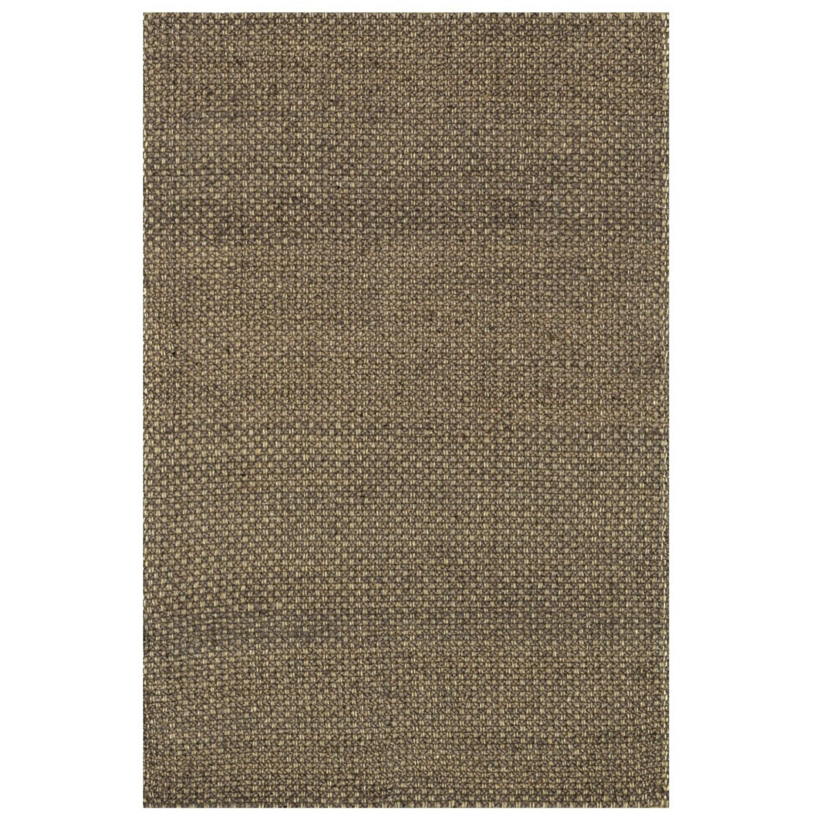 "Loloi Eco Checked Jute Rug in Black - 5' x 7'6"" - Brown"