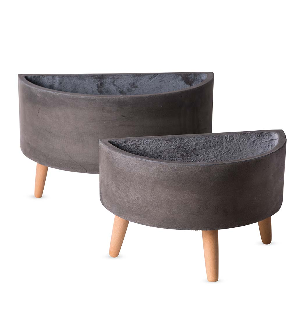 Arc Footed Planters, Set of 2