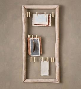 Fir Wood Framed Clothes Pin Memo Board