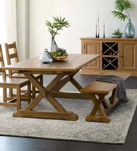 Vintage Fir Collins X Brace Dining Collection
