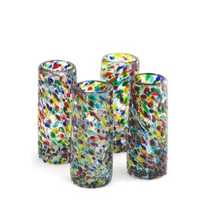 Confetti Recycled Shot Glass, Set of 4