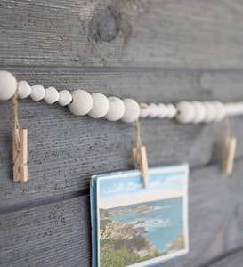 Wood Garland with Clips