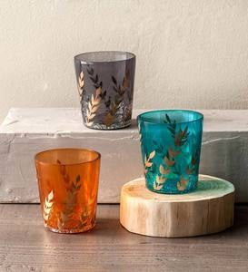 Recycled Glass Votive Holders