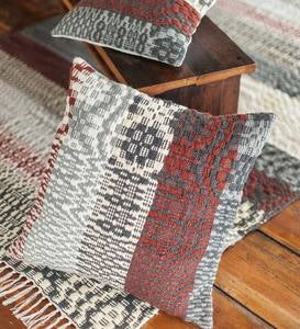 "Wool&Cotton Ganado Pillow Cover - 26"" x 26"""