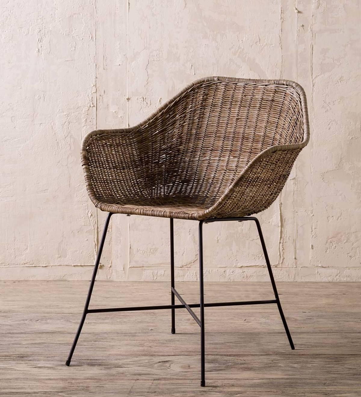 Sensational Mid Century Rattan Woven Chair Vivaterra Bralicious Painted Fabric Chair Ideas Braliciousco