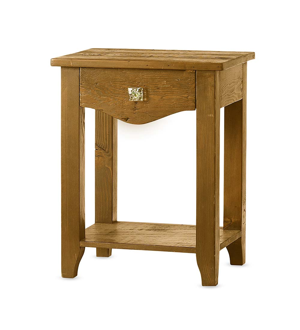 Vintage Fir Global Bedside Table