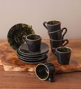 Riveria Cups + Saucers - Set of 6