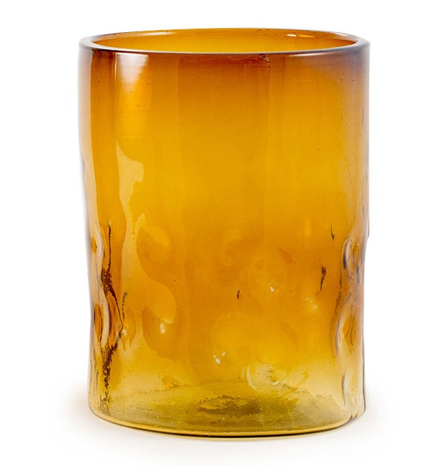 Sahara Recycled Glass Small Vase - Amber