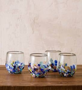 Riviera Recycled Stemless Wine Glass, Set of 4