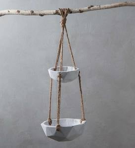 Cement and Jute Hanging Bowls
