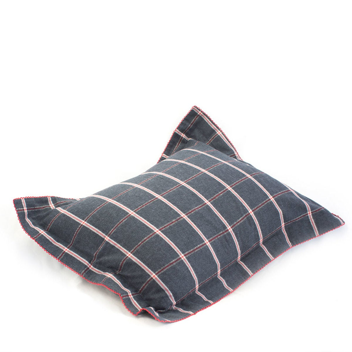 Oxford Flannel Windowpane Organic King Sham
