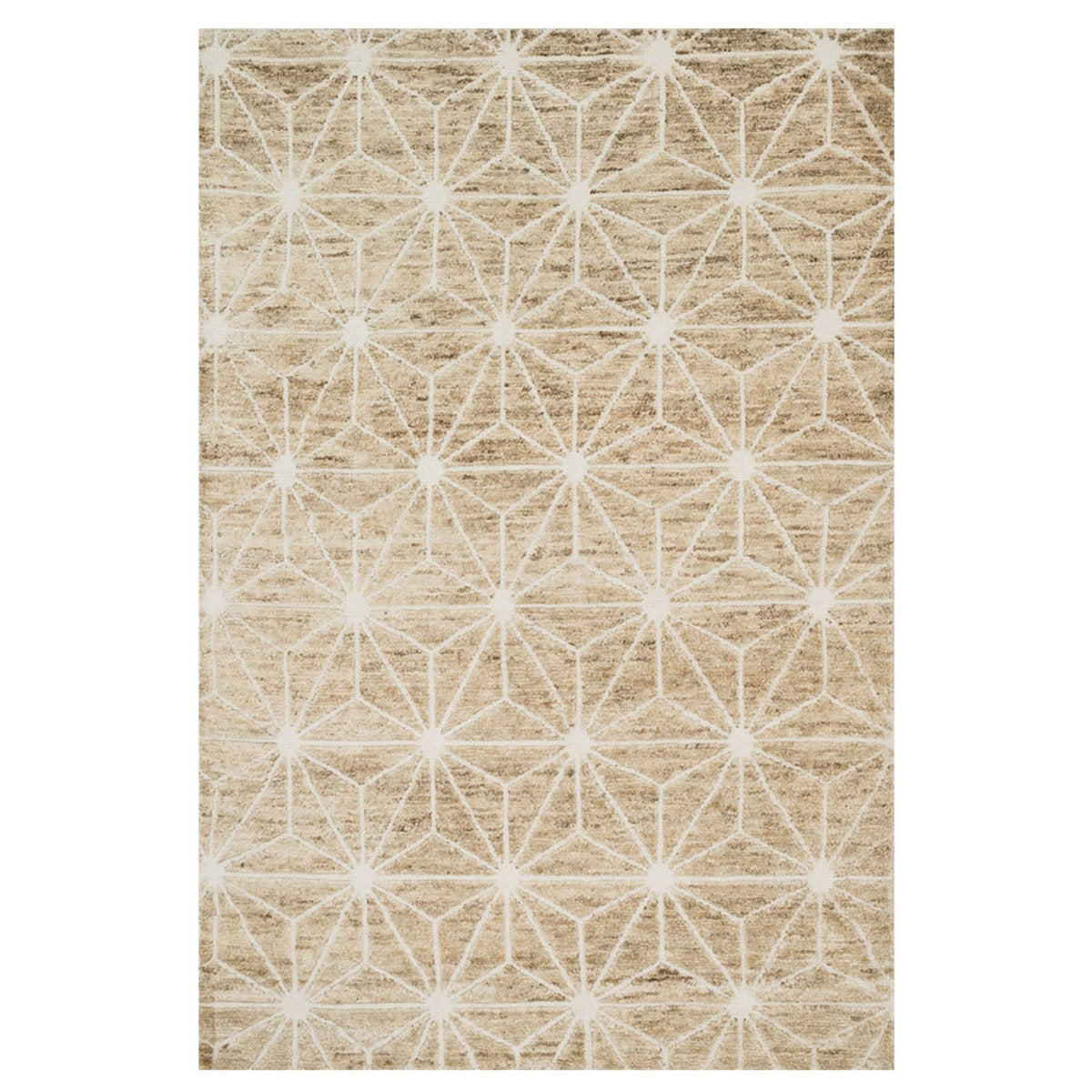 "Loloi Sahara Drawn to Scale Rug in Birch - 9'6"" x 13'6"" - Ivory"