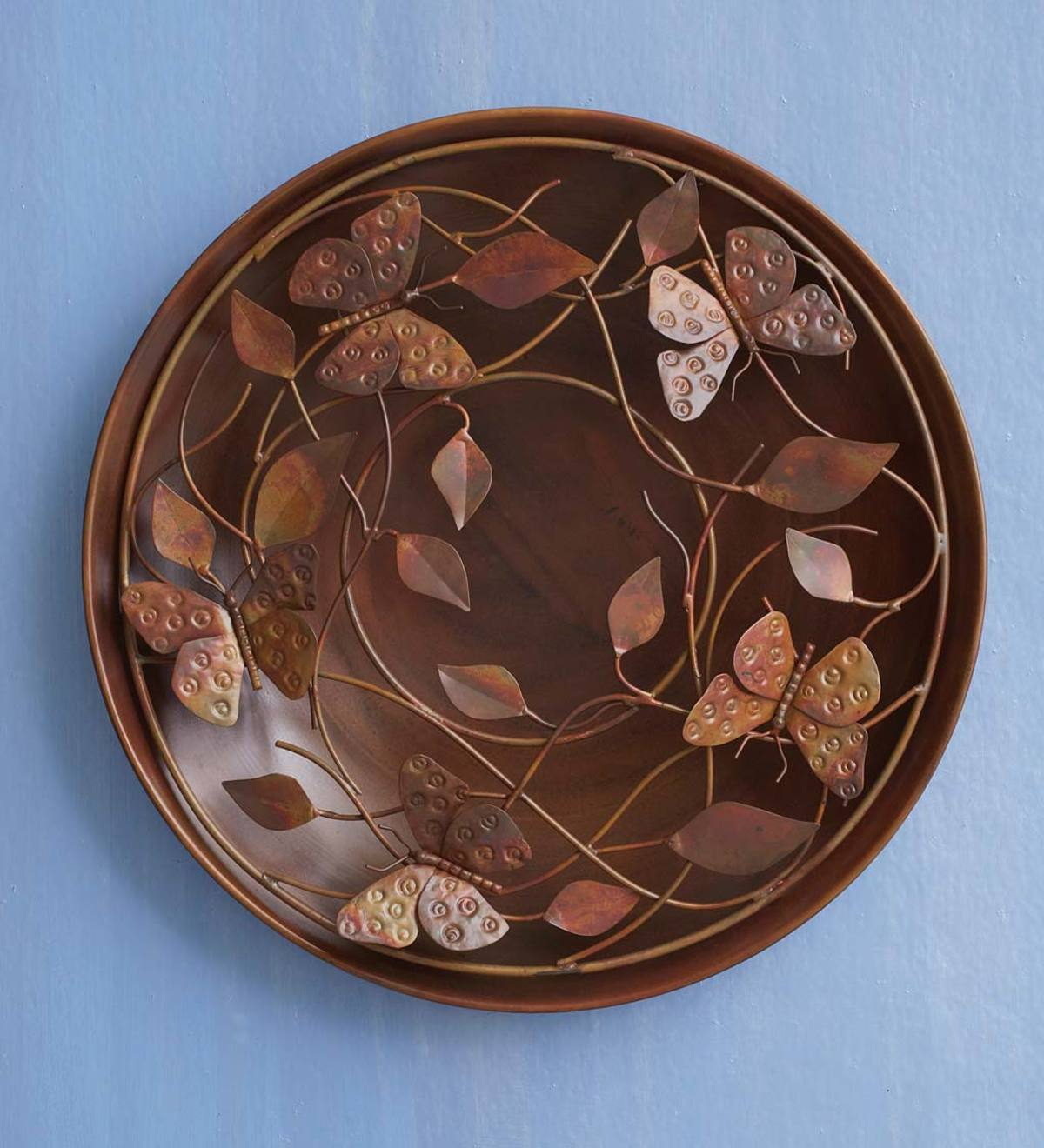 Butterfly and Leaf Metal Wall Art