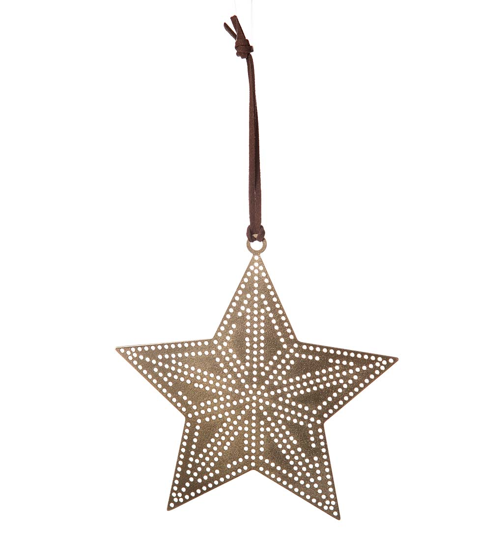 Hole Punch Metal Star and Moon Brass Ornaments