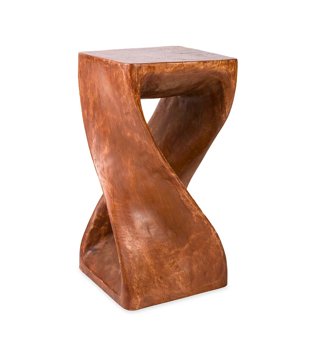 Handcarved Twisty Stool - 23""