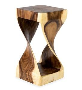 Mila Twisted Teak Side Table