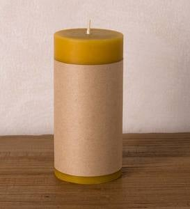"All Natural Beeswax 3"" x 6"" Pillar Candle"
