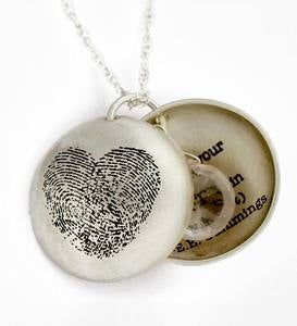 Heart Print Locket