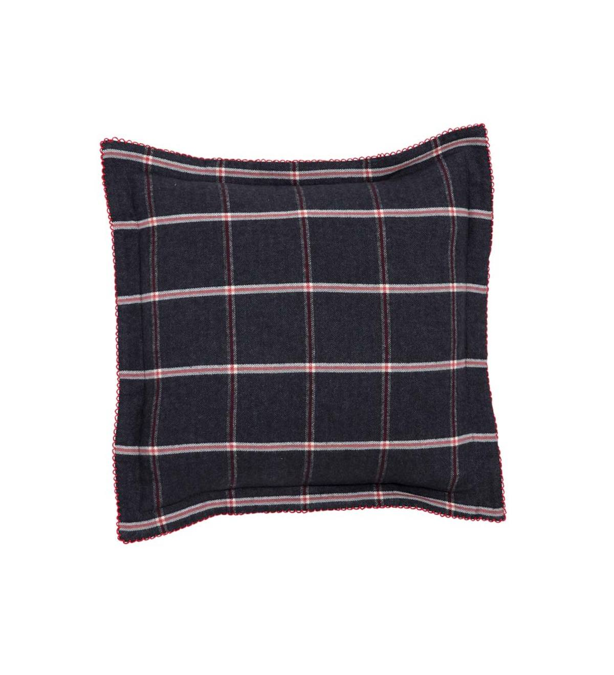 Oxford Flannel Windowpane Organic Pillow Cover