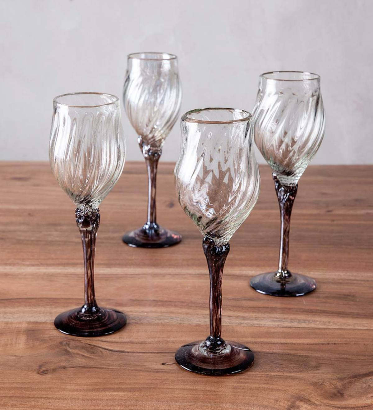 Stormy Stem Recycled Wine Glasses