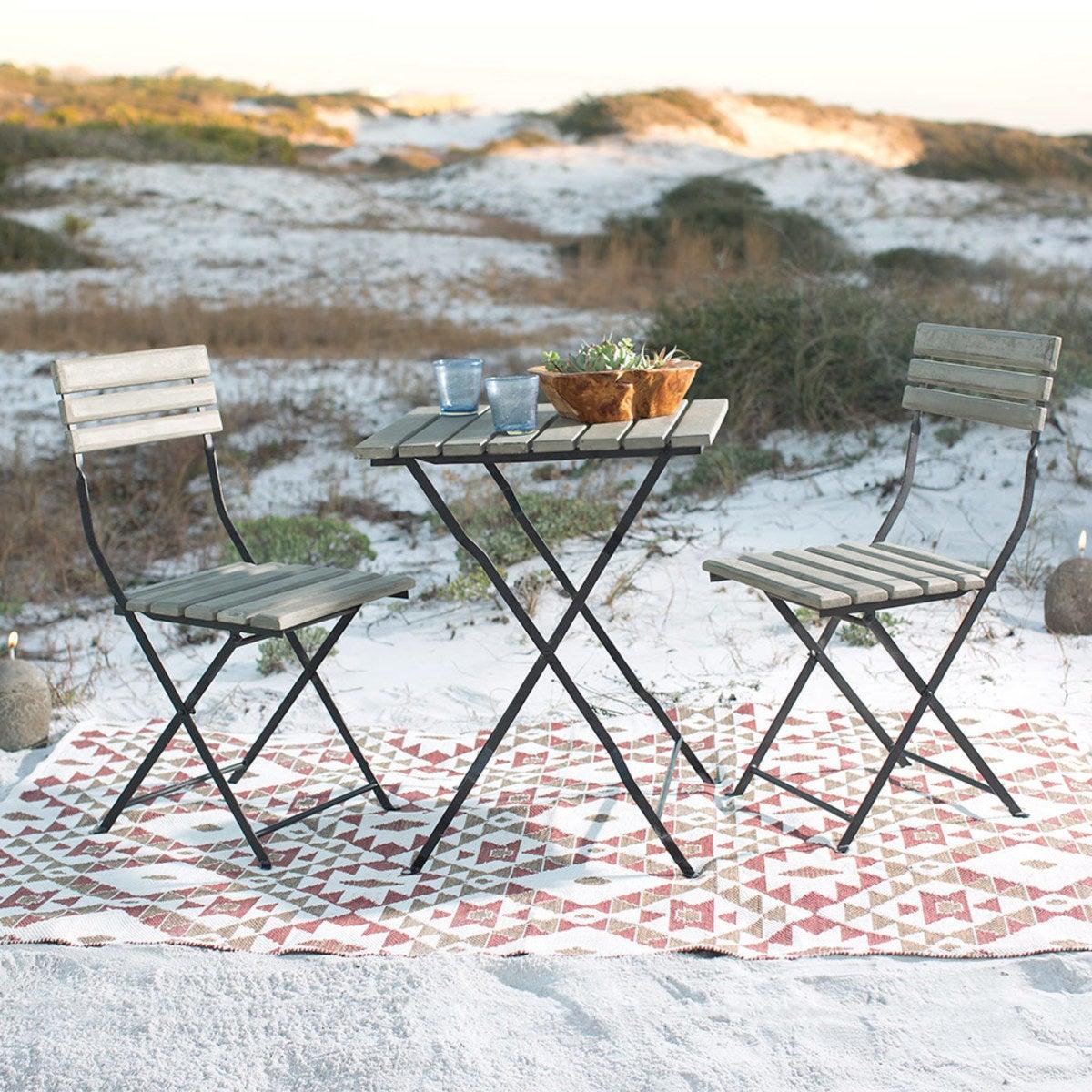 Fantastic Cement And Metal Bistro Chairs Set Of 2 Vivaterra Uwap Interior Chair Design Uwaporg