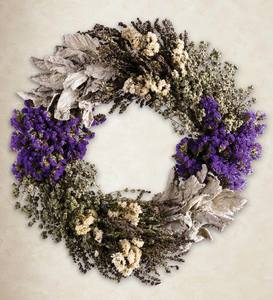 Herbs and Statice Wreath