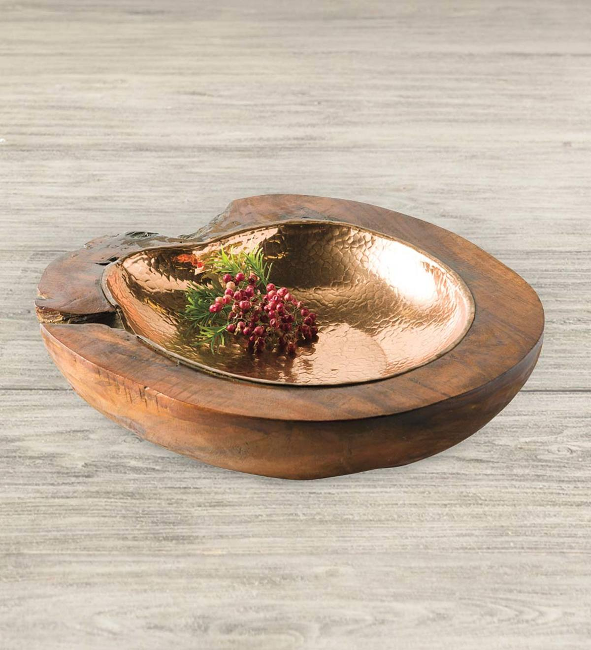 Root of Earth Bowl with Dappled Copper Liner