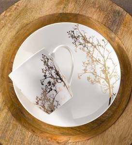 Gold Branch Porcelain Dessert Gift Set