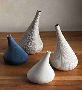 Handcrafted Japandi-Style Porcelain Clay Organic-Shaped Vases