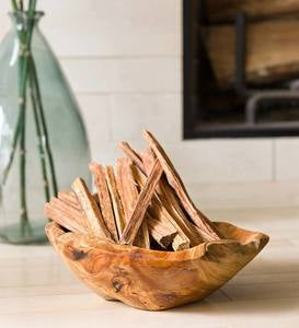 Medium Root Bowl with Fatwood 5lb.Bundle