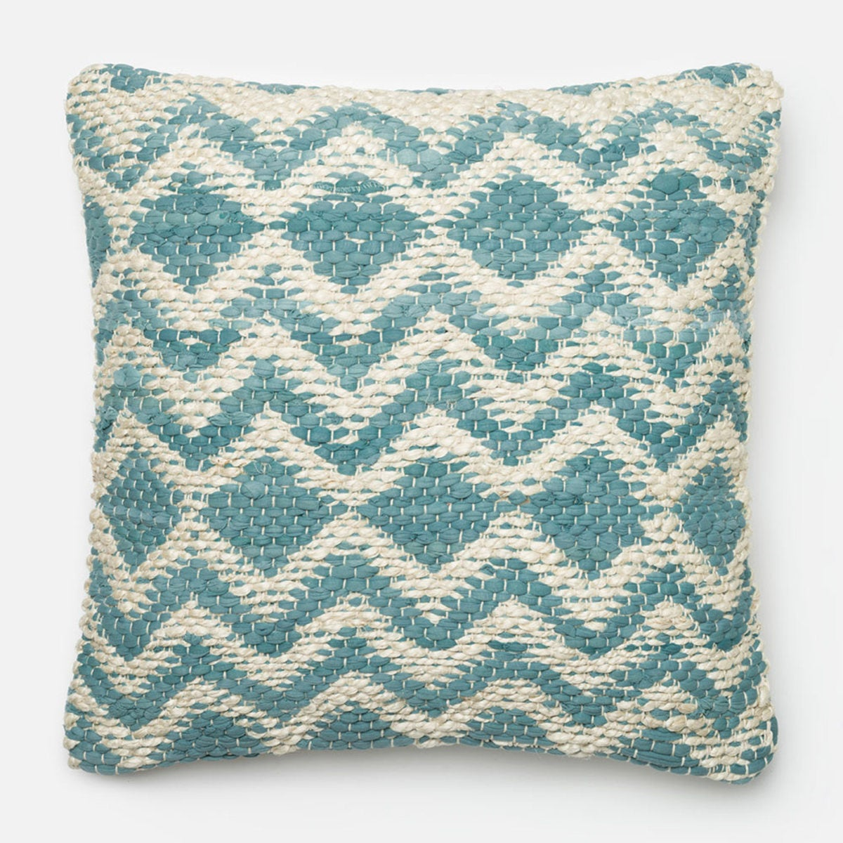 Loloi Handwoven Easy Geo Throw Pillow - Blue