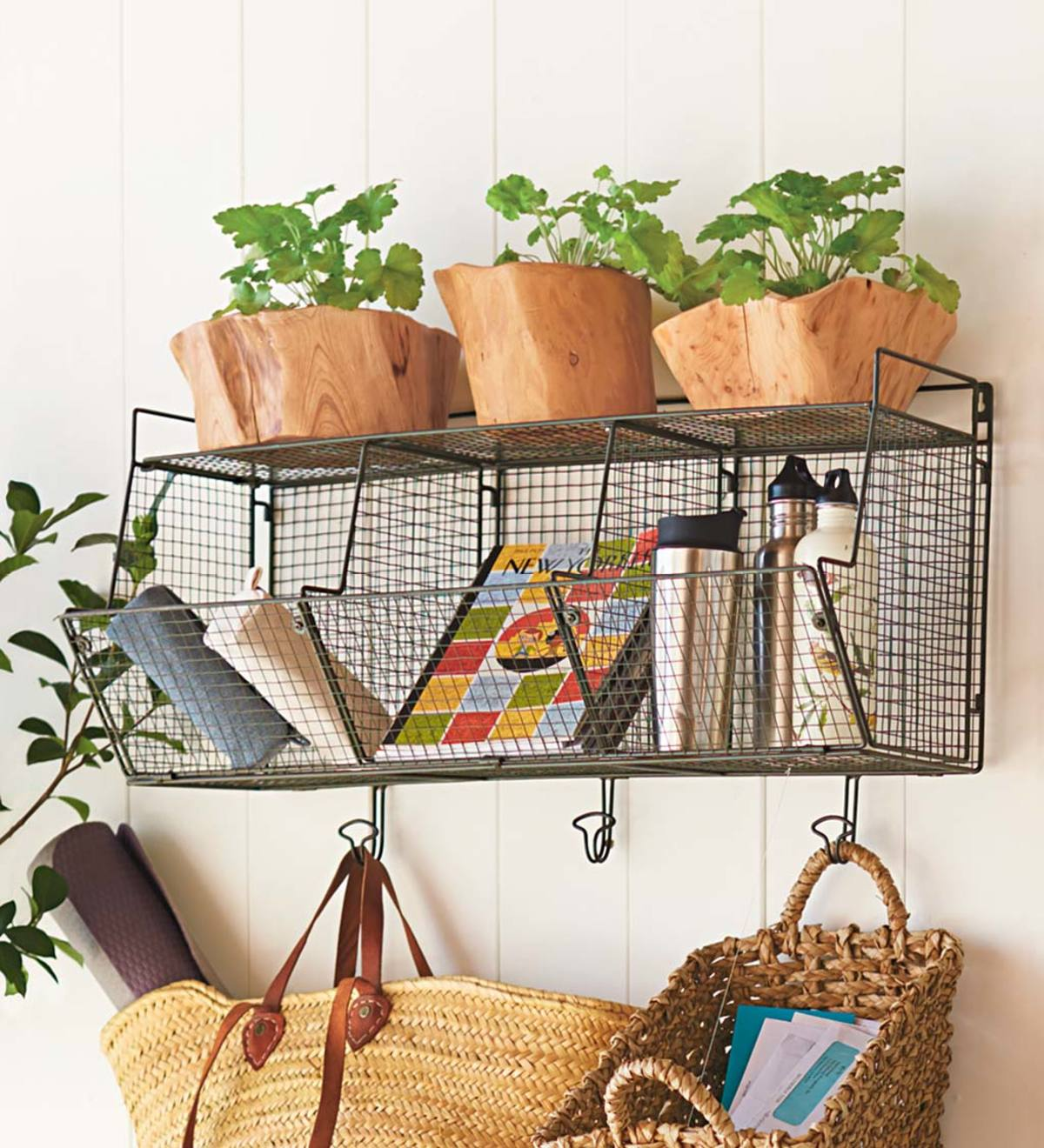 Modular Wire Storage Hanging Bins