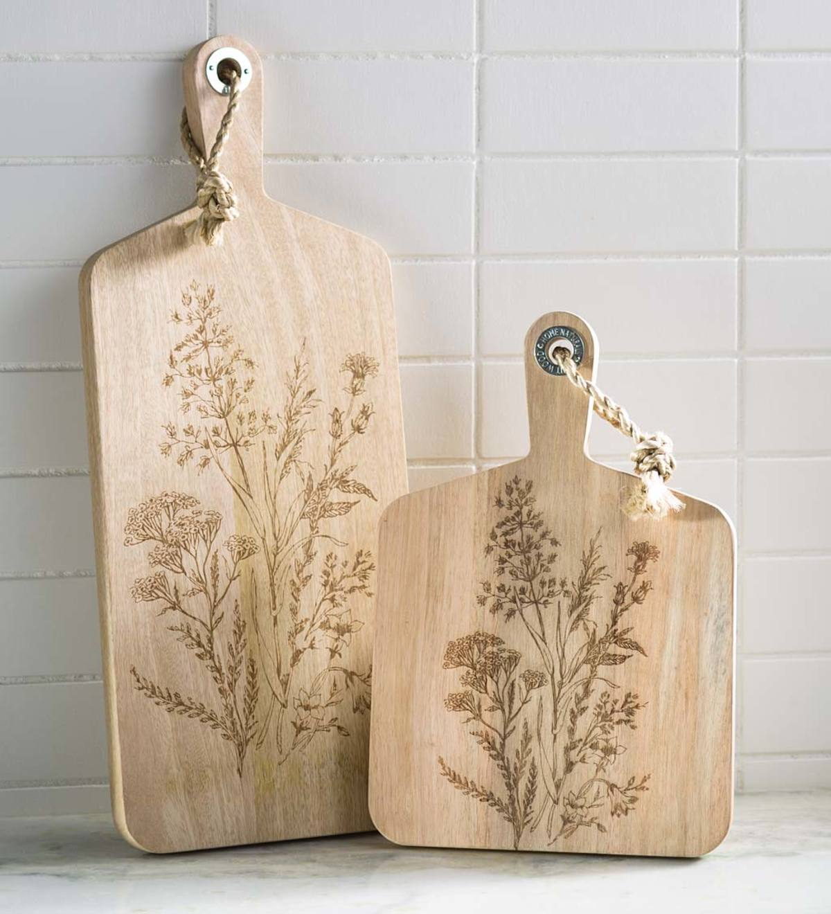 Wildflower Etched Serving Boards