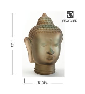 Recycled Glass Buddha Bust Sculpture