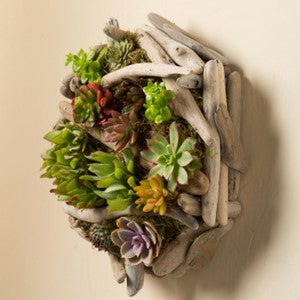 Reclaimed Wood Wall Planter with Heart Cutout Small Succulent Planter for Wall