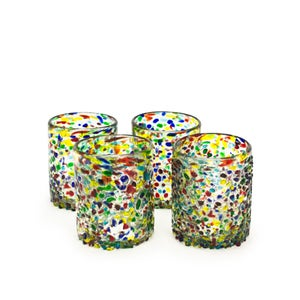 Confetti Recycled Tumbler Glass, Set of 4