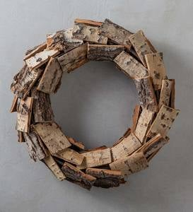 "Poplar Bark Wreath, 20"" dia."