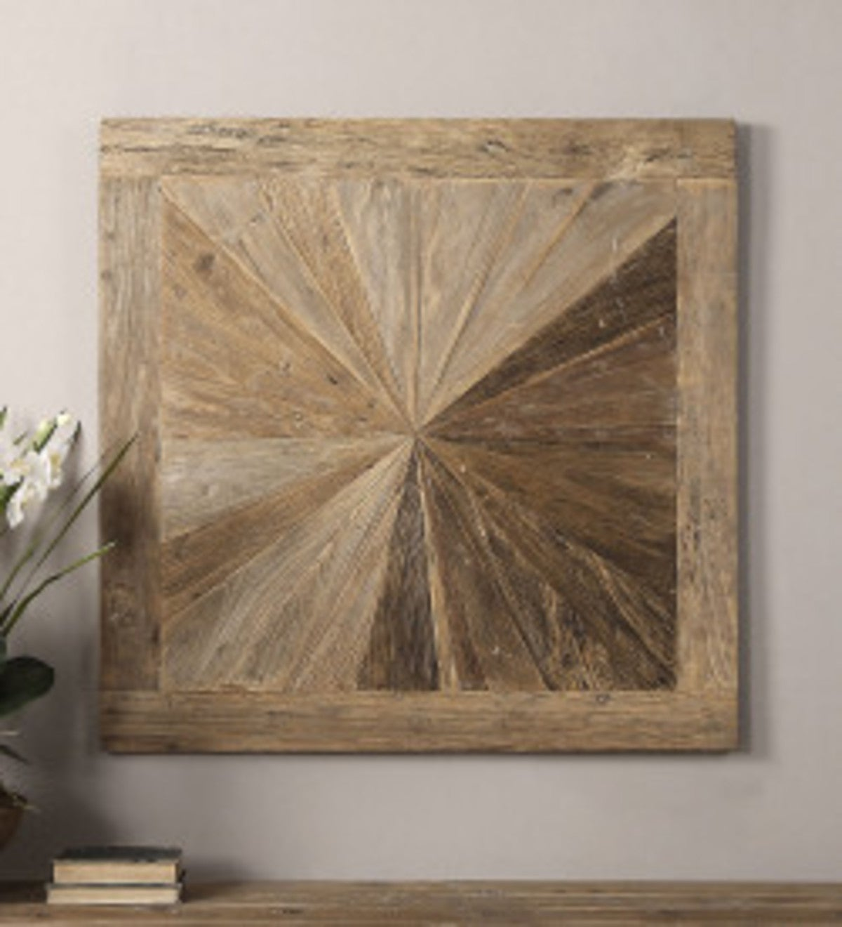 Reclaimed Elm Wood Mosaic Wall Art