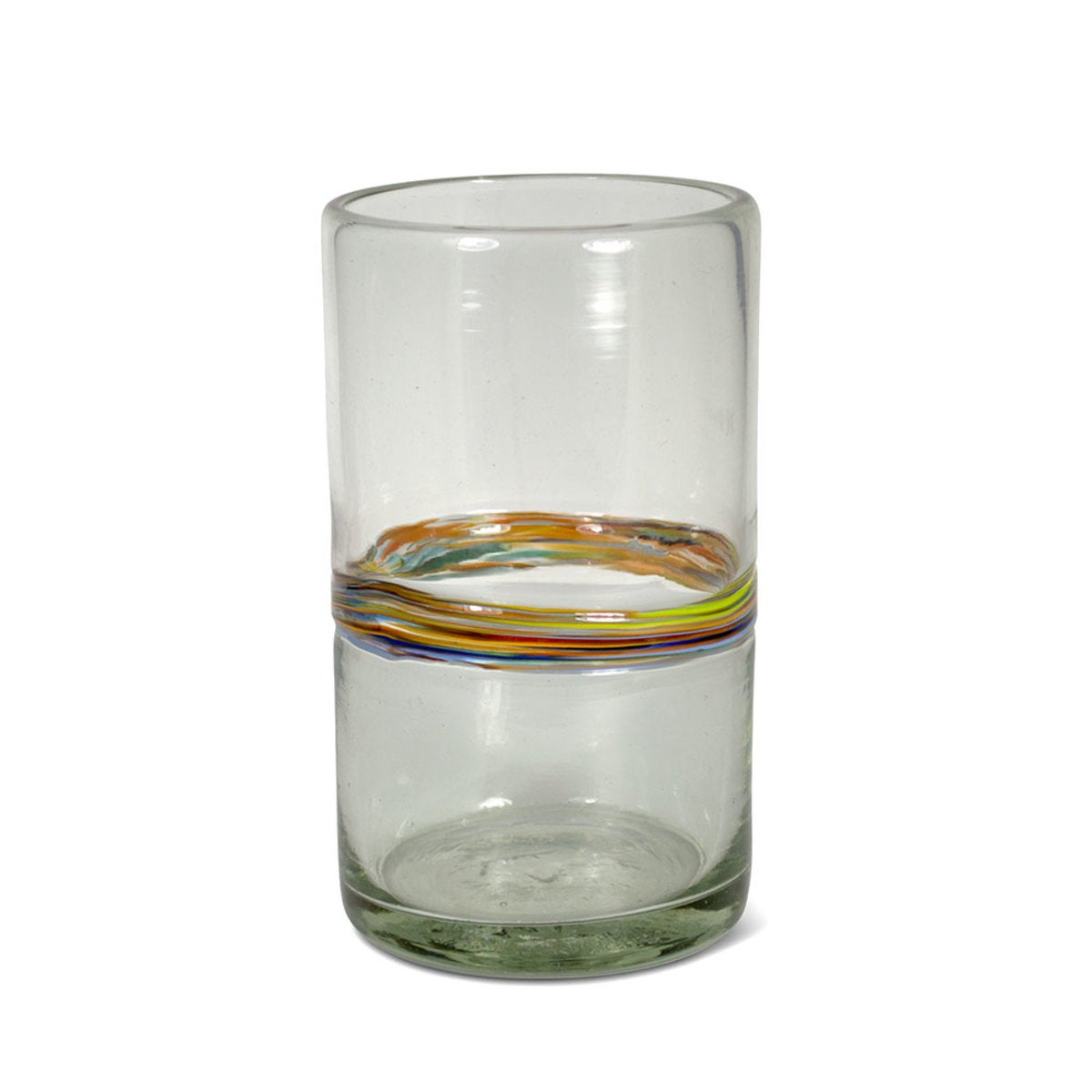 Rainbow Recycled Vase - Short