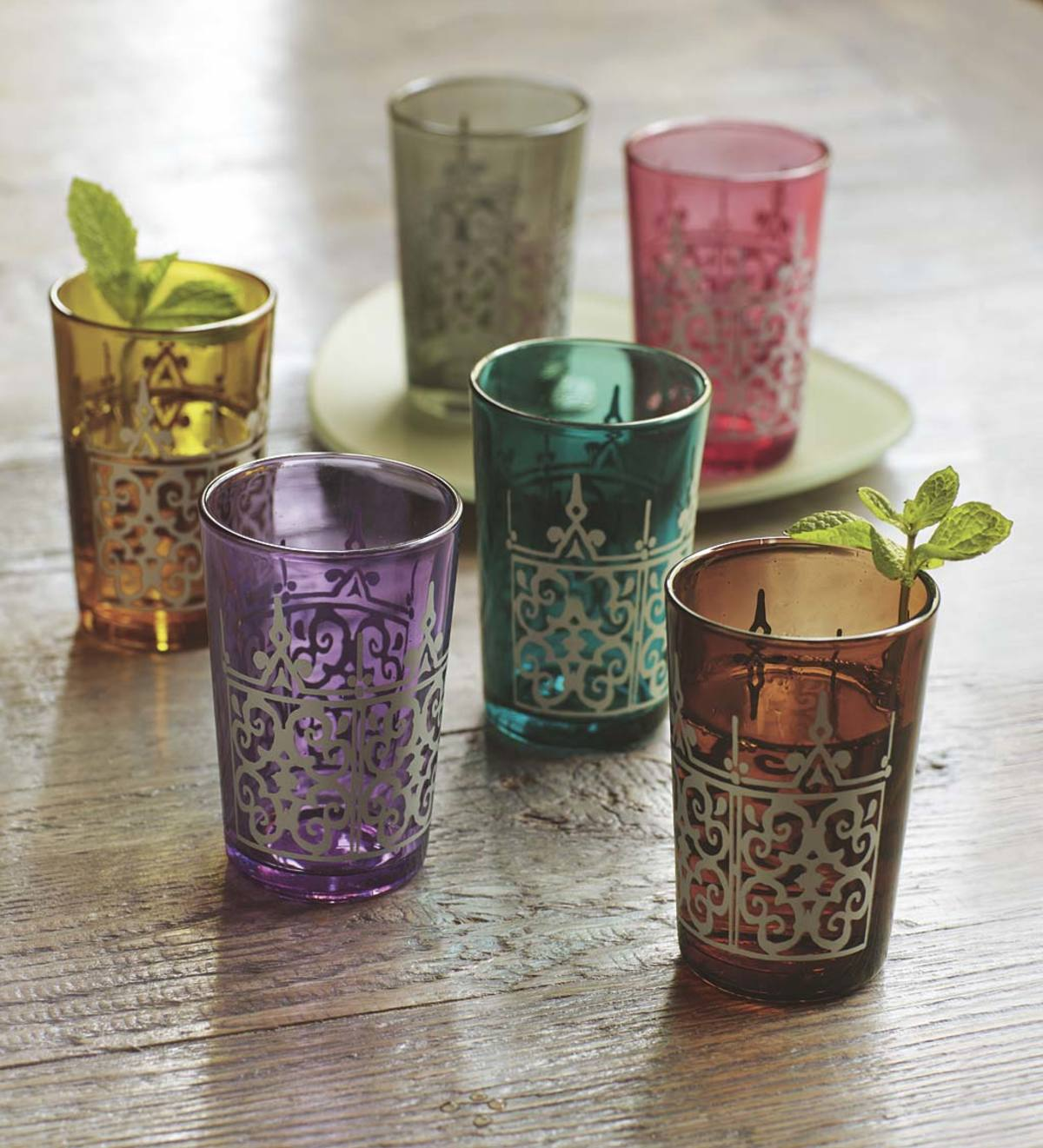 Moroccan Tea Glasses, Set of 6