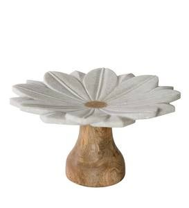 Marble Flower Cake Stand