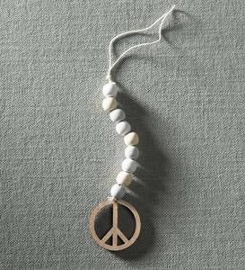 Beaded Peace Hanging Ornament